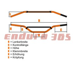 Renthal Twinwall Lenker 999 McGrath/Short KTM orange